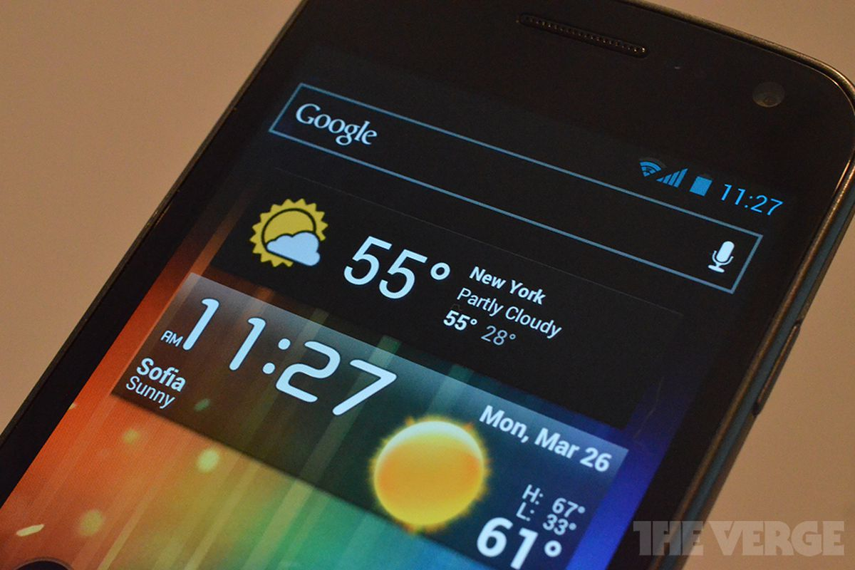 Galaxy Nexus Android 4 Weather Widgets