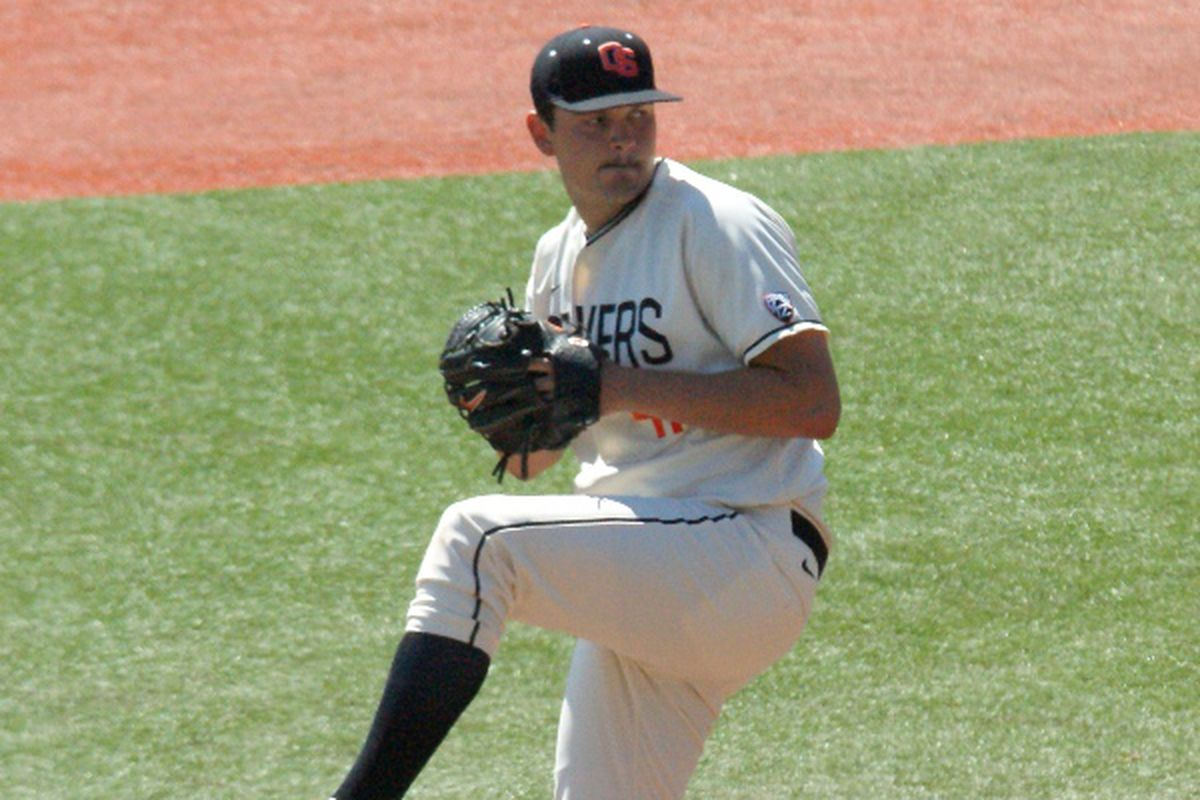 Dan Child is scheduled to be the first pitcher sent out by Oregon St. again this weekend.