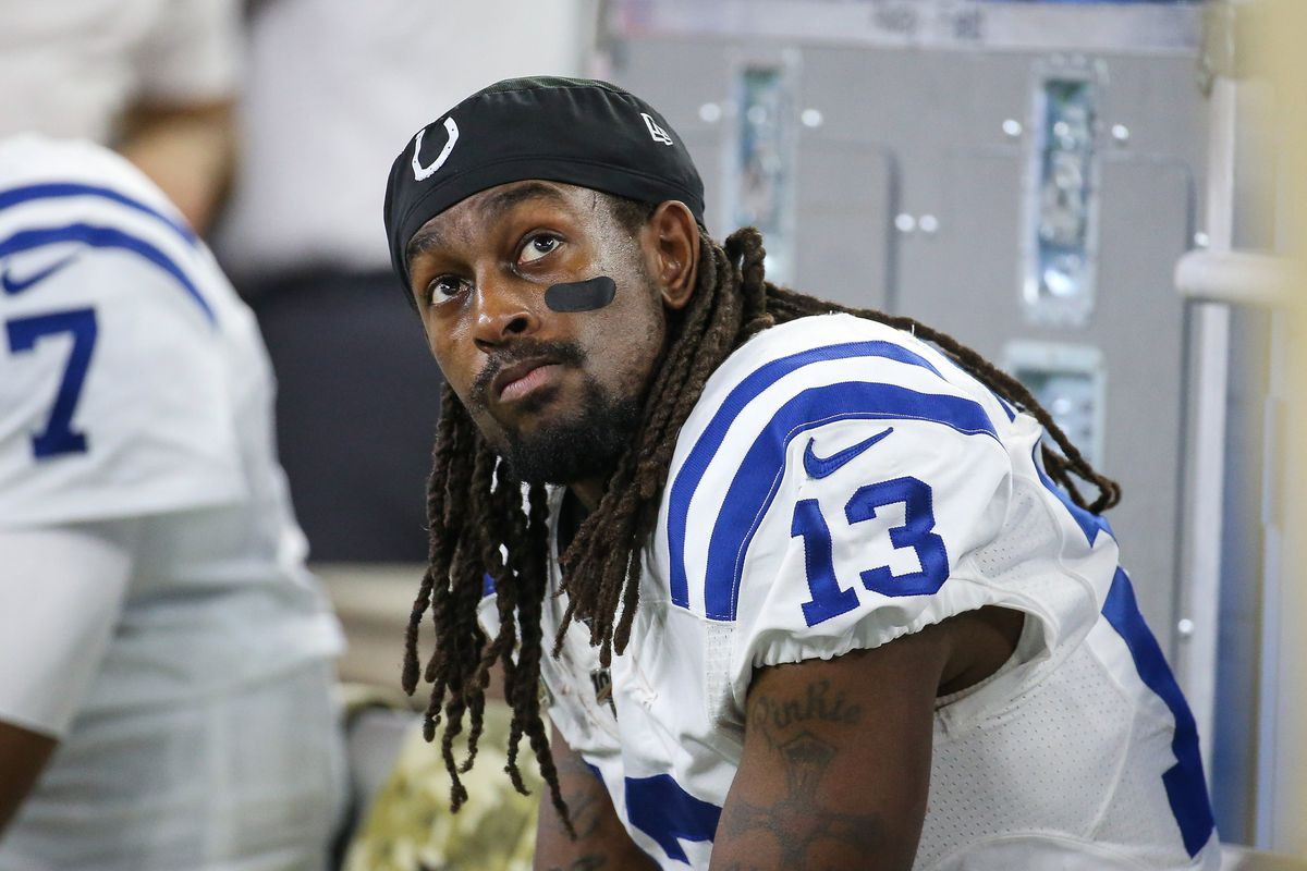 Indianapolis Colts wide receiver T.Y. Hilton during the game against the Houston Texans at NRG Stadium.