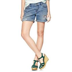"""Destroyed Sexy Boyfriend Shorts in Dune Wash, $49.95 at <a href=""""http://www.gap.com/browse/product.do?cid=93971&vid=1&pid=451685002"""">Gap</a>"""