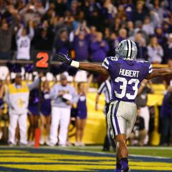 Kansas State running back John Hubert played at the same high school as LaDainian Tomlinson... and broke all his school records. He is the second leading rusher in K-State history... behind Darren Sproles.