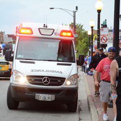 6:21 p.m. Standby ambulance on a medical call, on Addison -