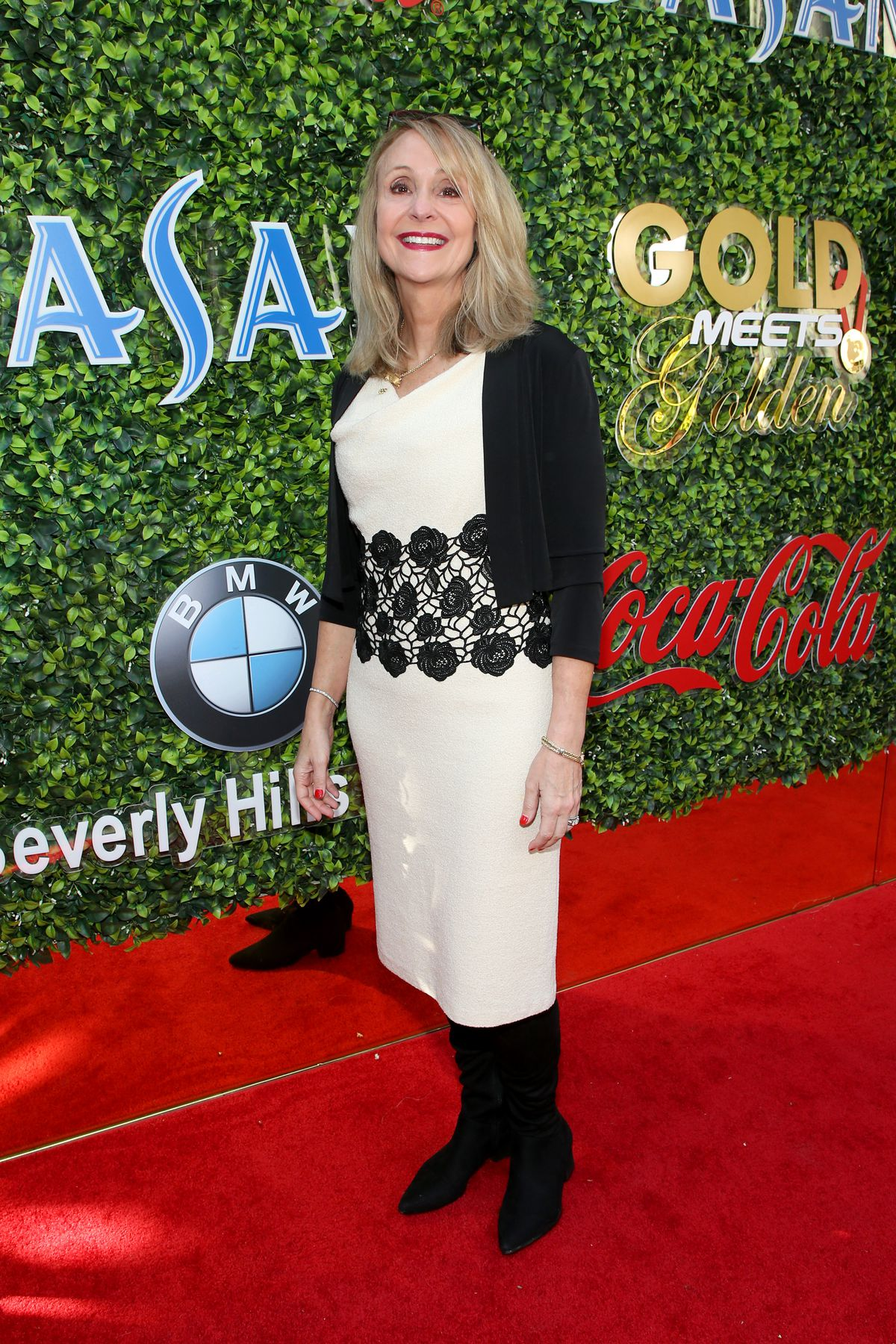 Nancy Hogshead-Makar attended GOLD MEETS GOLDEN 2020, presented by Coca-Cola, BMW Beverly Hills And FASHWIRE, and hosted by Nicole Kidman and Nadia Comaneci, At The Virginia Robinson Gardens And Estate on January 4, 2020 in Beverly Hills, Calif.