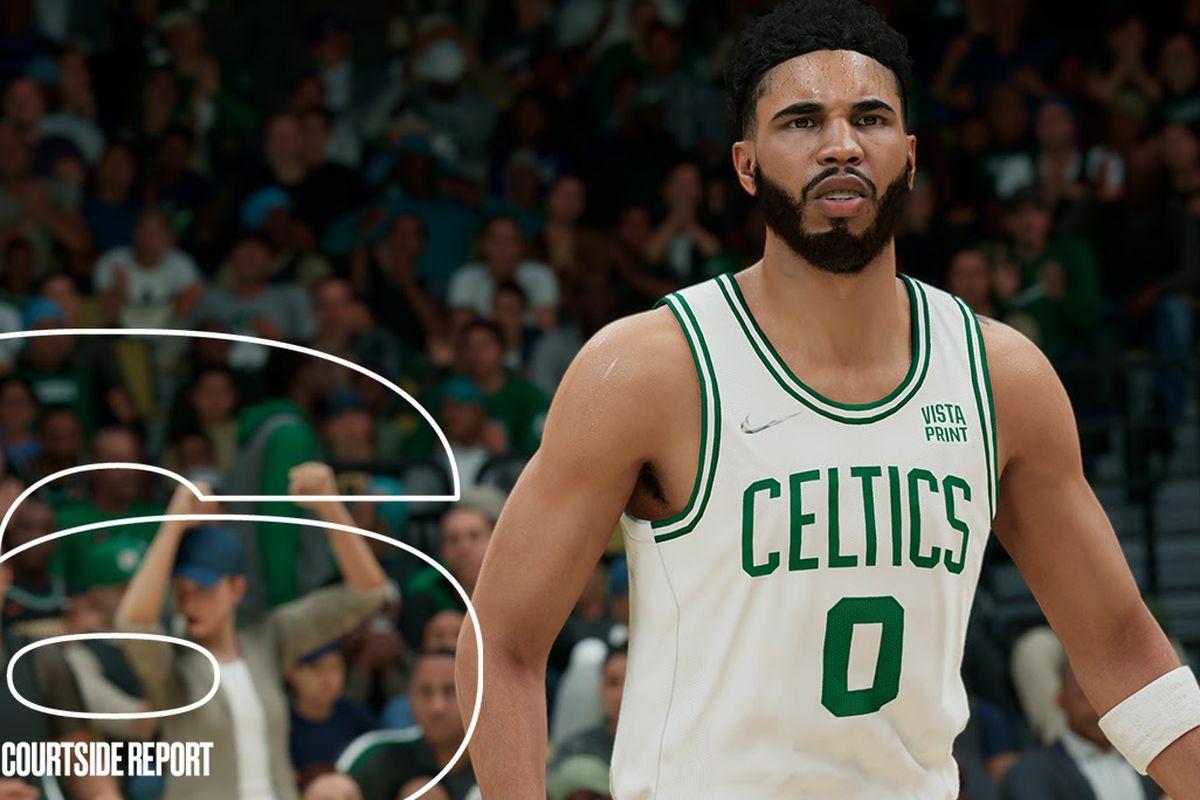 Boston Celtics star Jayson Tatum in NBA 2K22.