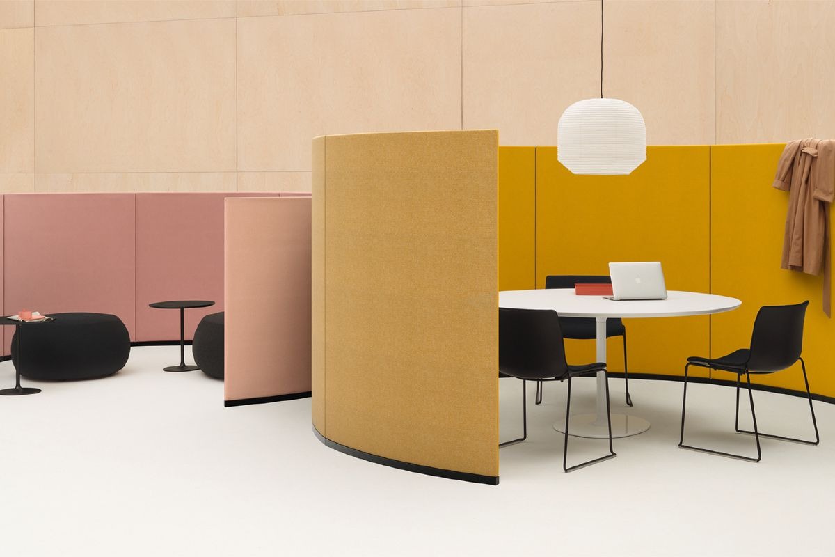Pink and yellow semicircle partitions