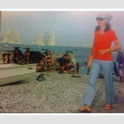 A snap shot from the Jackie! exhibit. She was a regular on the isle of Capri.