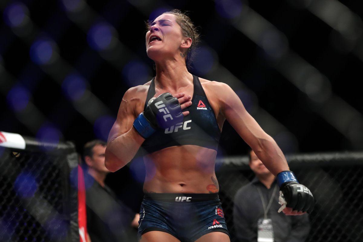 Jessica Eye celebrates a win
