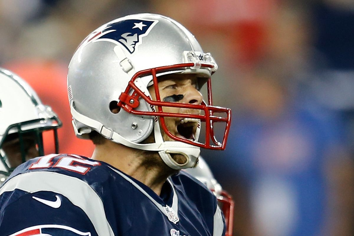 Tom Brady's back to yelling again.