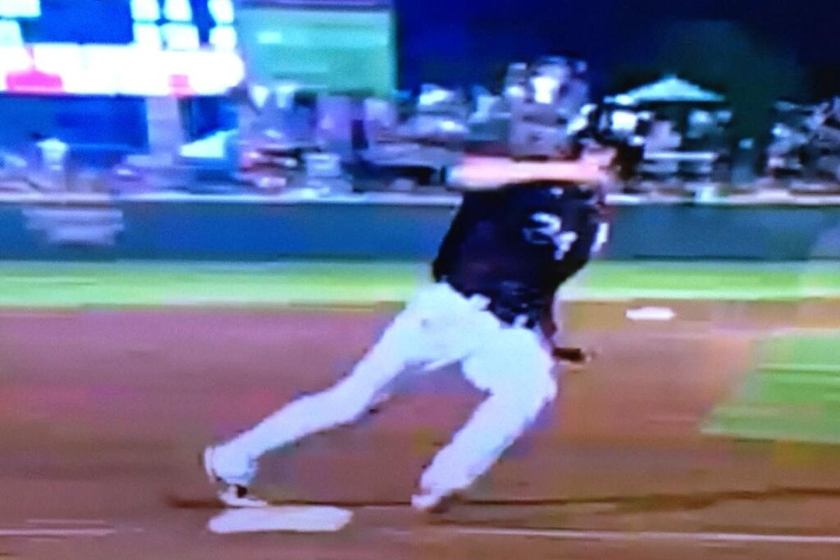 Renfroe was called out for not touching 3rd base while heading from 2nd to home on a wild pitch