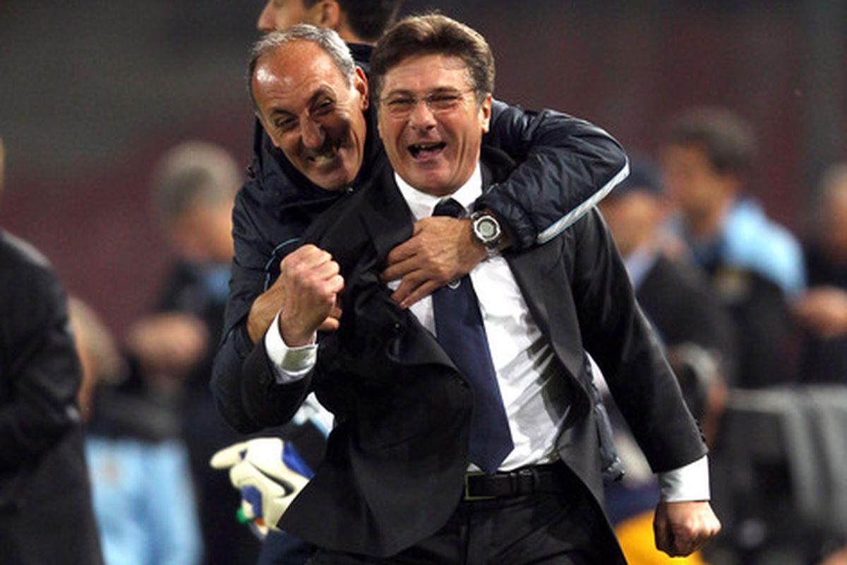 Walter Mazzarri and Enzo Concina at Napoli