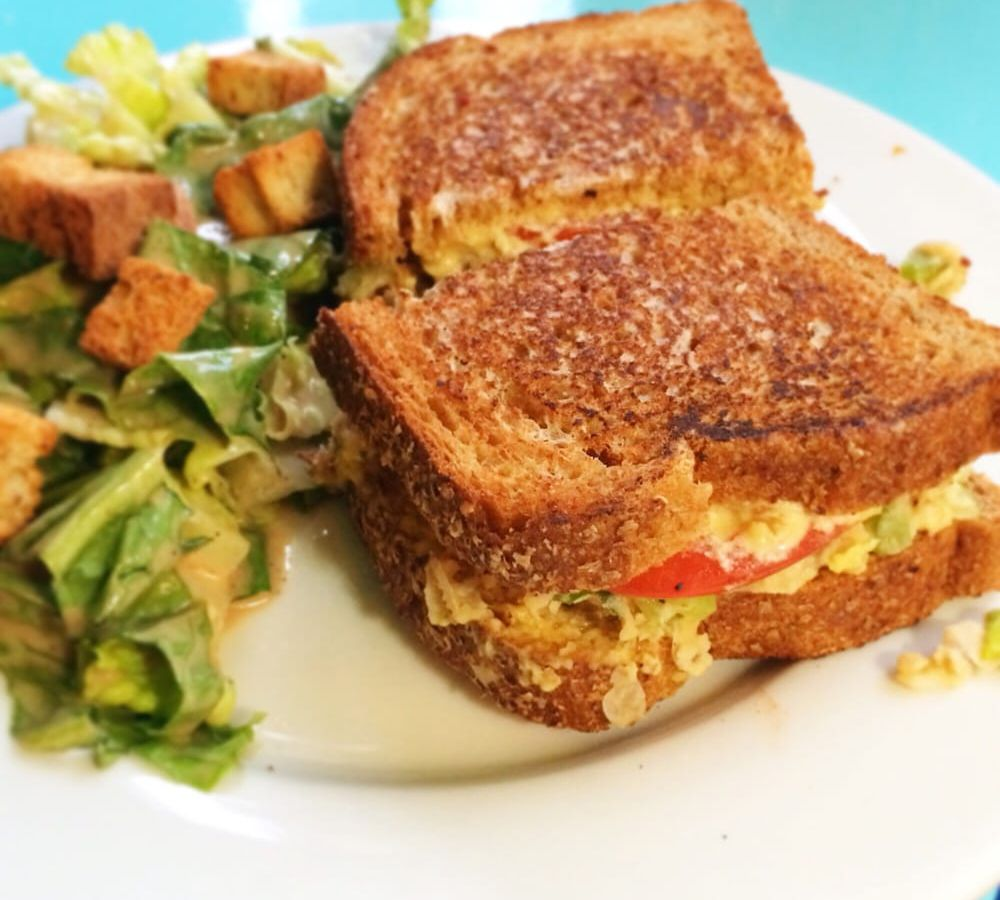 A sandwich and salad at Counter Culture