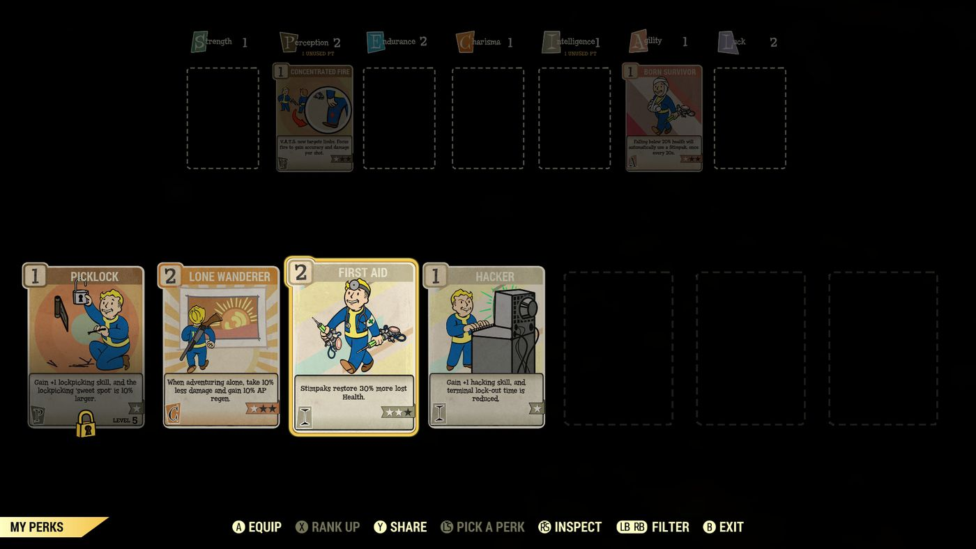 Fallout 76 guide to leveling, SPECIAL and Perk Cards - Polygon