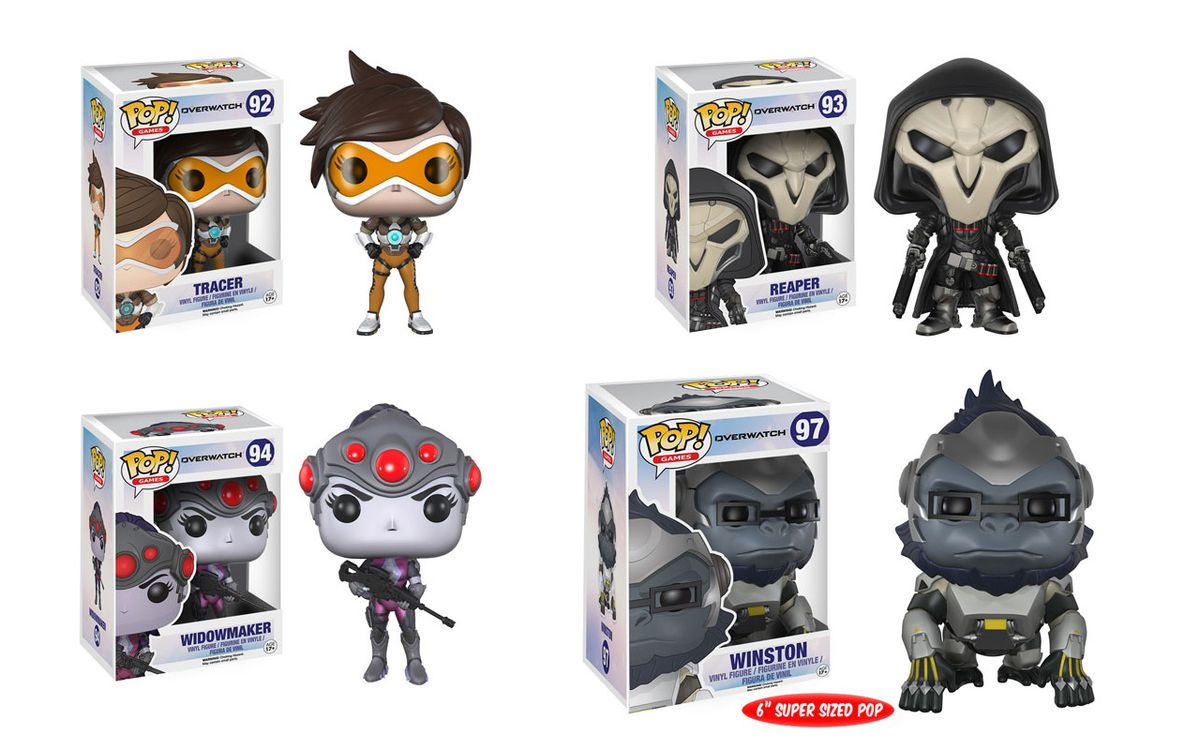 Overwatch heroes getting the Pop vinyl figure treatment from