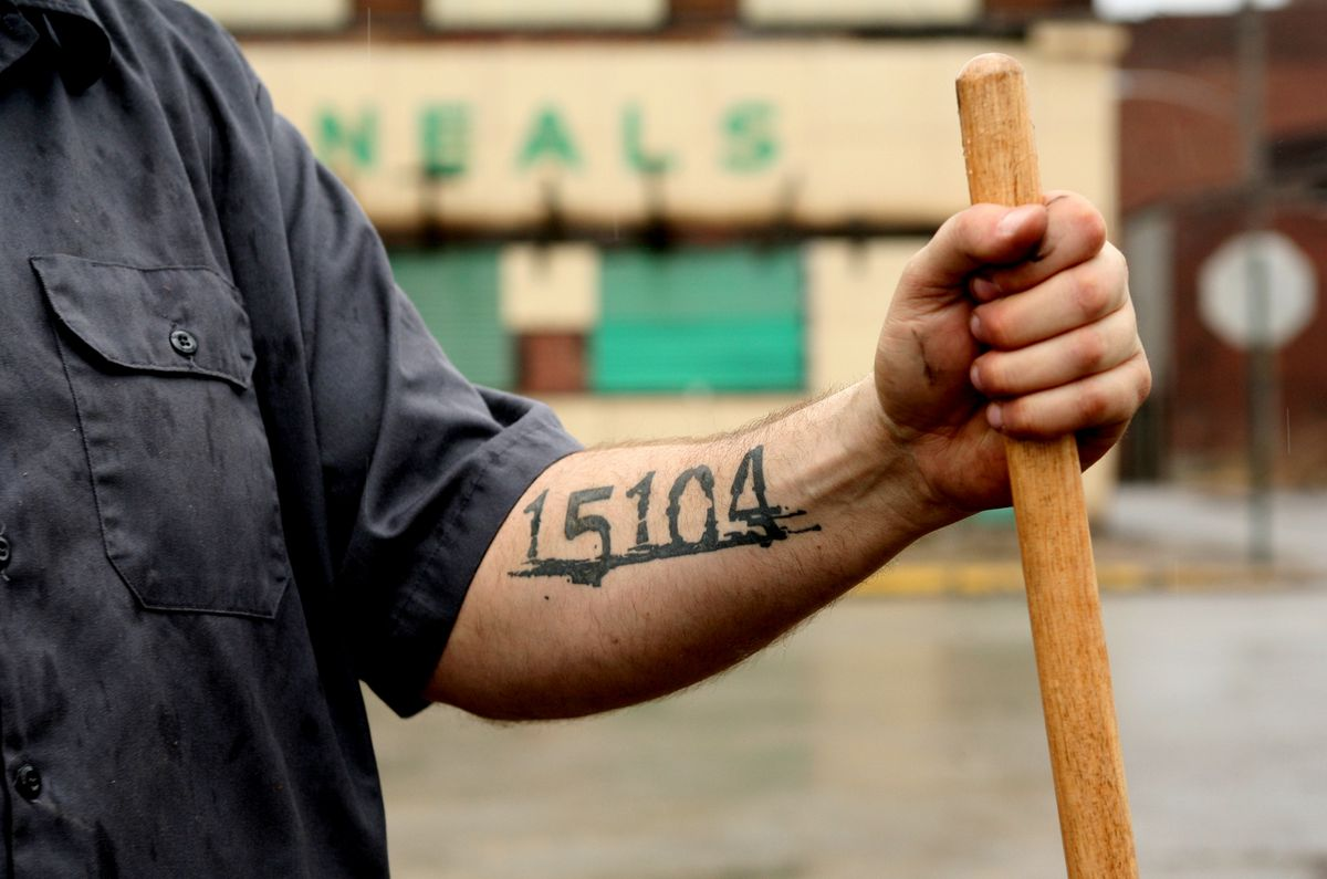 John Fetterman has Baddock, Pennsylvania's zip code tattooed on his arm.