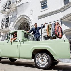 The couple in Luke's 1957 Ford F-100