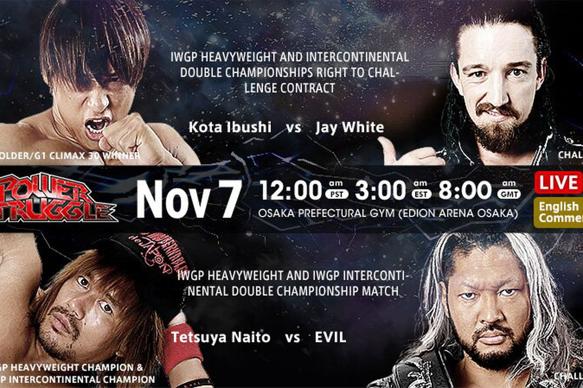 Matchup graphic for NJPW Power Struggle 2020