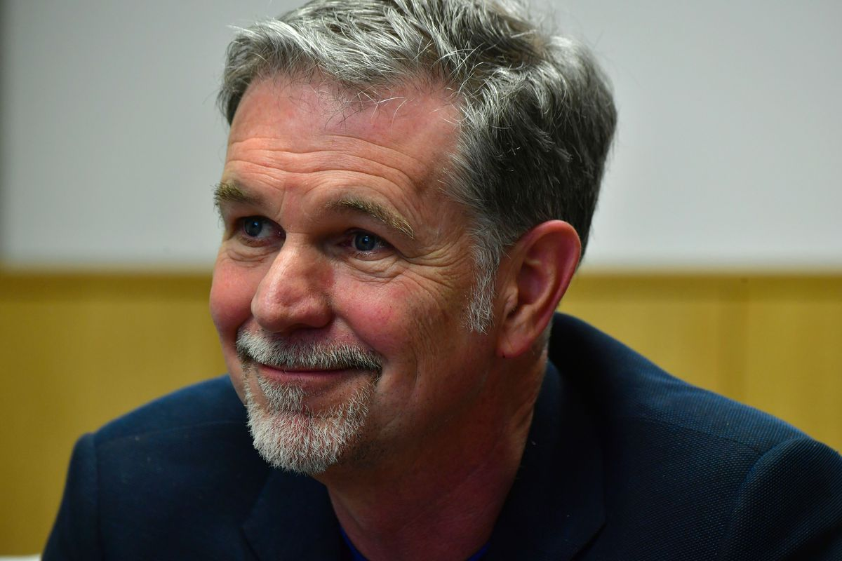 Founder and CEO of Netflix Reed Hastings is pictured during a Netflix event on March 1, 2017, in Berlin.