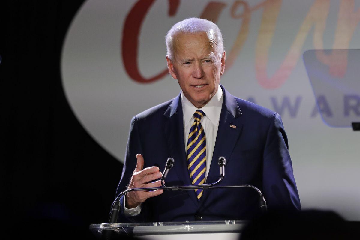 Former Vice President Joe Biden speaks at the Biden Courage Awards, Tuesday, March 26, 2019, in New York. (AP Photo/Frank Franklin II)