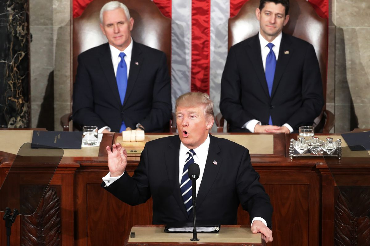 Donald Trump Delivers Address To Joint Session Of Congress