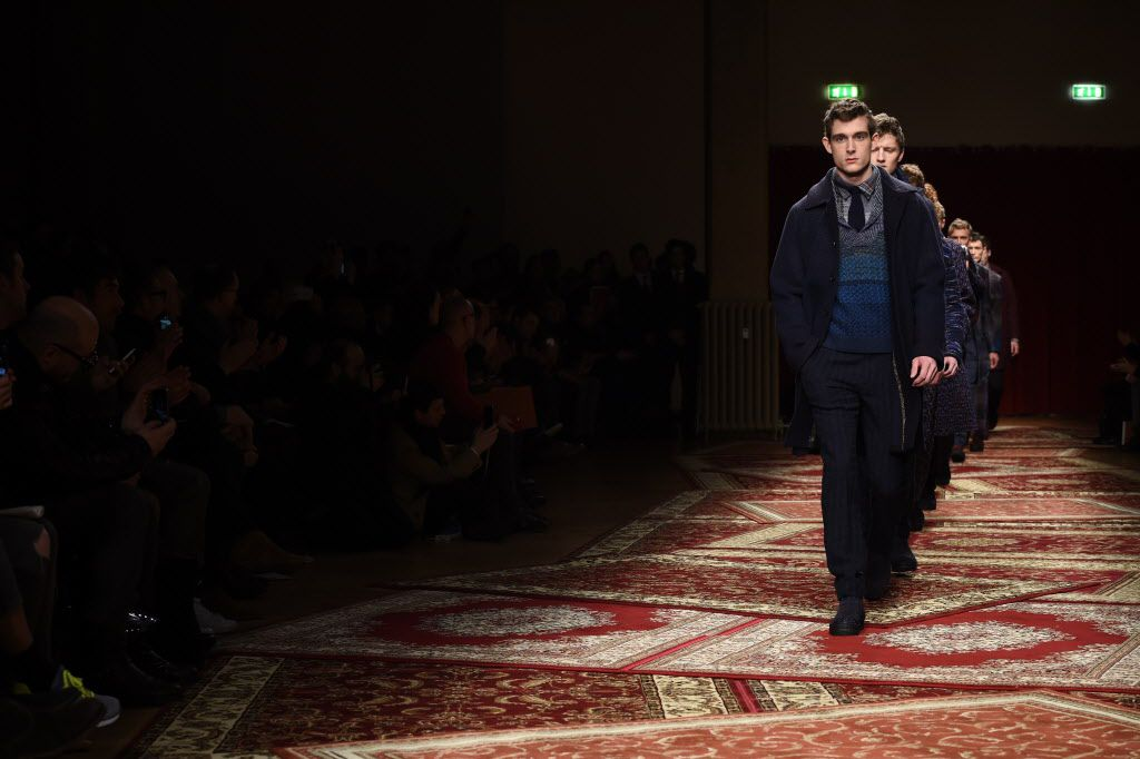 Models walk the runway during the Missoni Show as a part of Milan Menswear Fashion Week Fall Winter on Sunday in Milan, Italy.   Photo by Tullio M. Puglia/Getty Images