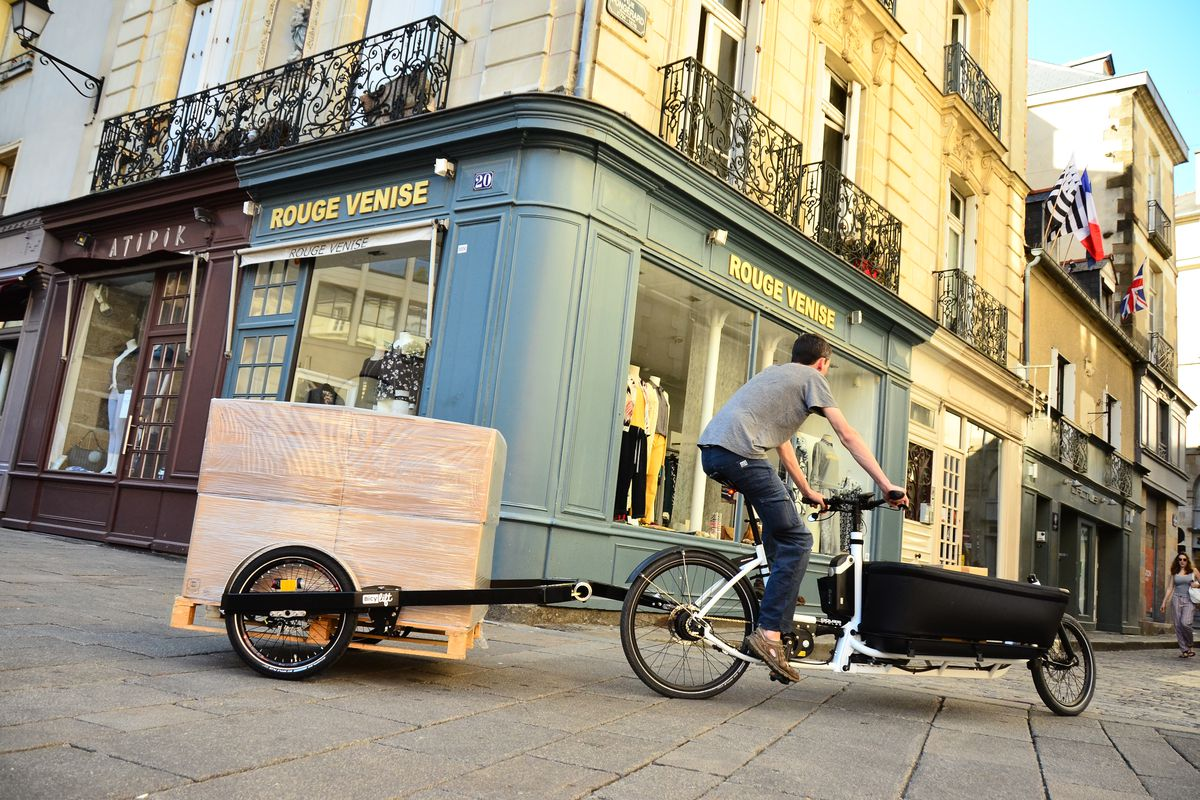 The bike trailer that could replace city delivery trucks