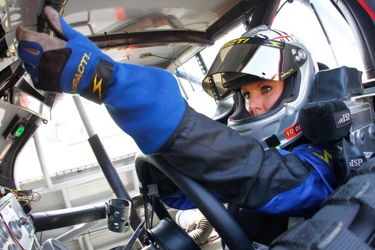 Jennifer Jo Cobb will drive for Rick Ware Racing in the NASCAR Nationwide Series this weekend at Auto Club Speedway.