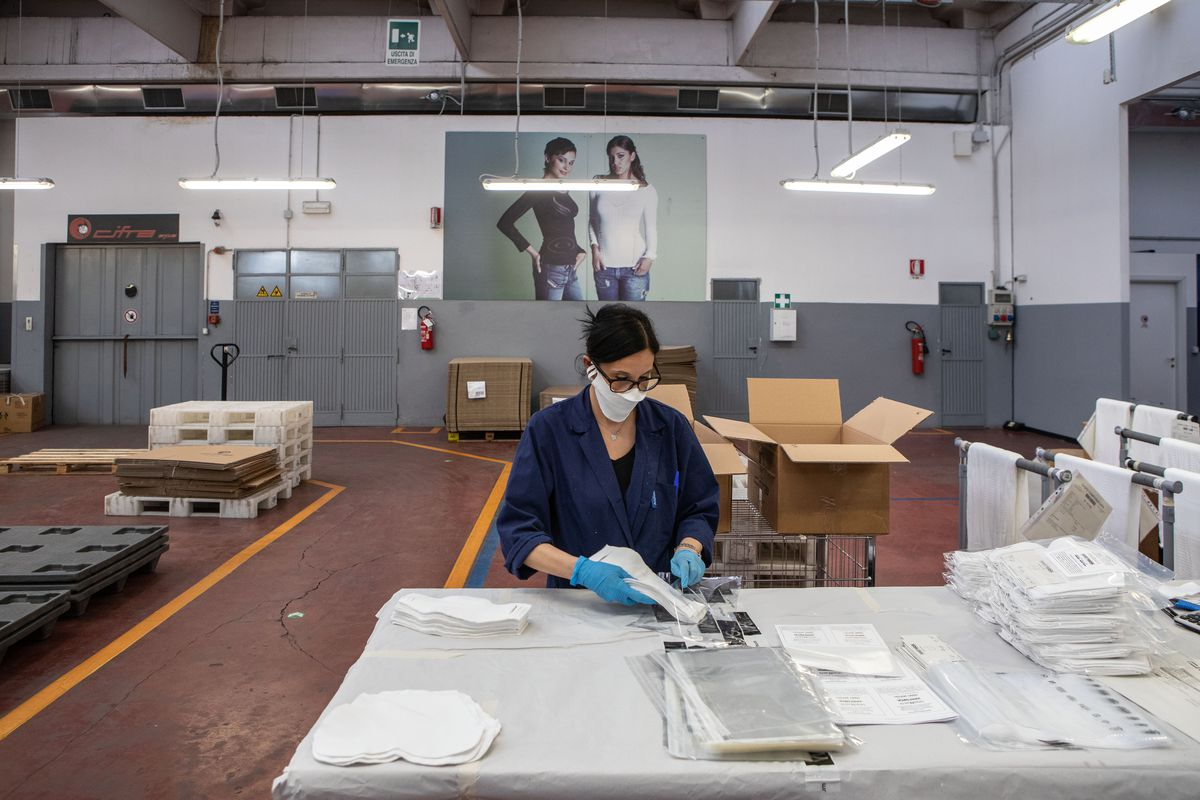Protection Mask Production In Italy