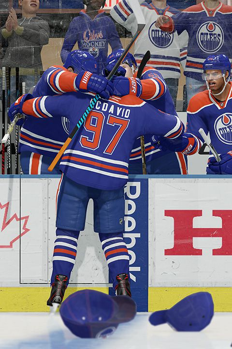 NHL 17 - McDavid hat trick celebration 480
