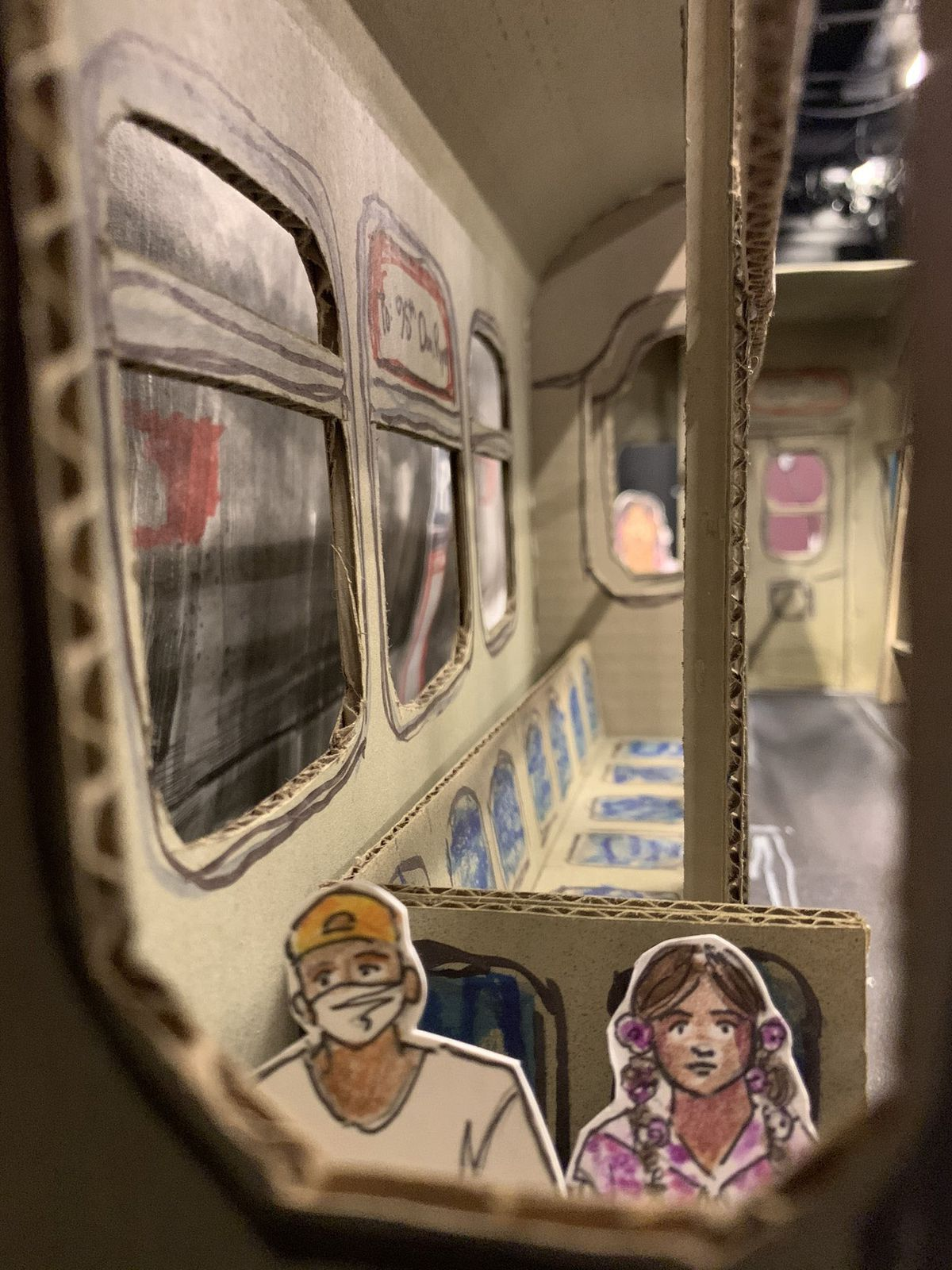 """""""Diamond's Dream"""" tells the story of a young African American boy who falls asleep on a Red Line train while on the way to visit his grandmother who is dying of COVID-19. He awakens to find himselfconfronted by the spirit of a young African American girl who died of the Spanish Flu in 1918."""