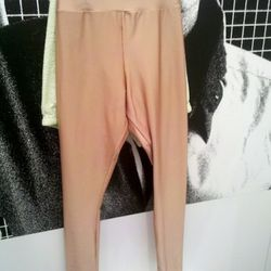 Nude droopy-crotched spandex leggings, only $21, at the American Apparel store