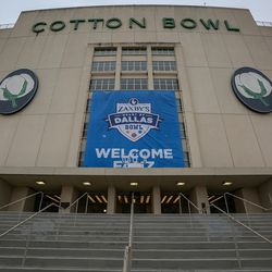 The Cotton Bowl where the Zaxby's Heart of Dallas Bowl between the Utah Utes and the West Virginia Mountaineers will be played in Dallas Texas on Tuesday, Dec. 26, 2017.