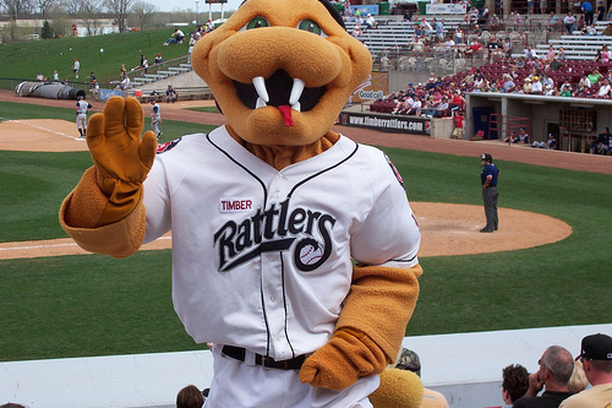 """Fang, seen here before becoming the star of The Offseason, invites you to come out to a Timber Rattlers game this season. Image via <a href=""""http://farm3.static.flickr.com/2305/2193931373_86a5651a56.jpg"""">Flickr</a>."""