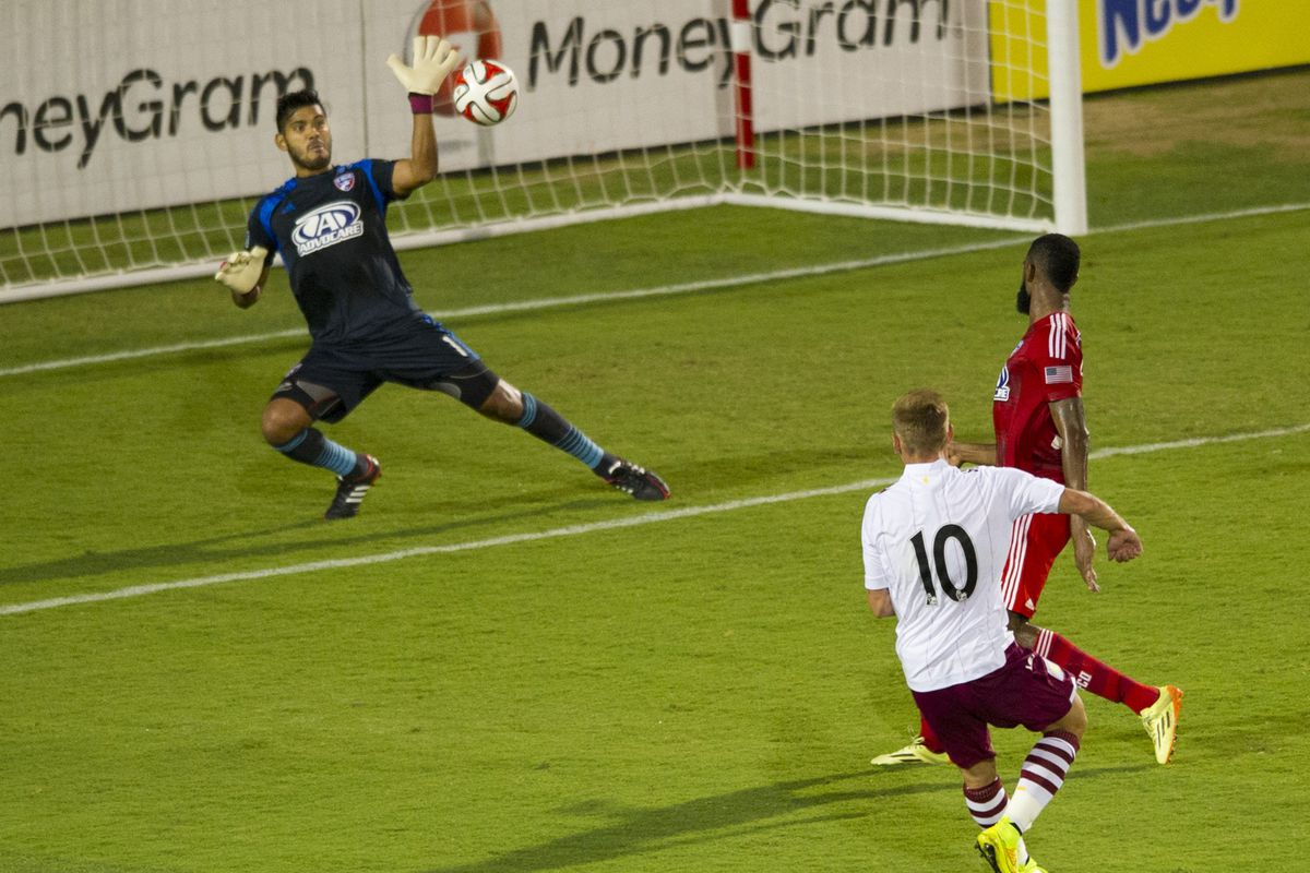 Andreas Weimann opens the scoring in the 44th minute in Aston Villa's 2-0 victory over FC Dallas.