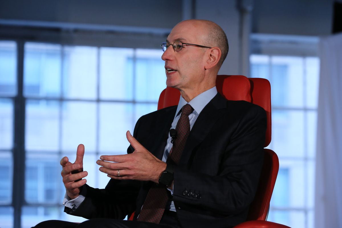 NBA Commissioner Adam Silver onstage at Code Commerce 2017