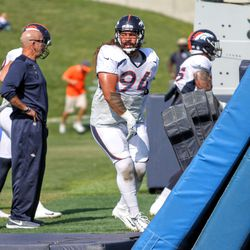 That face doesn't look like a nice guy, but Broncos NT Domata Peko is an incredibly nice guy.