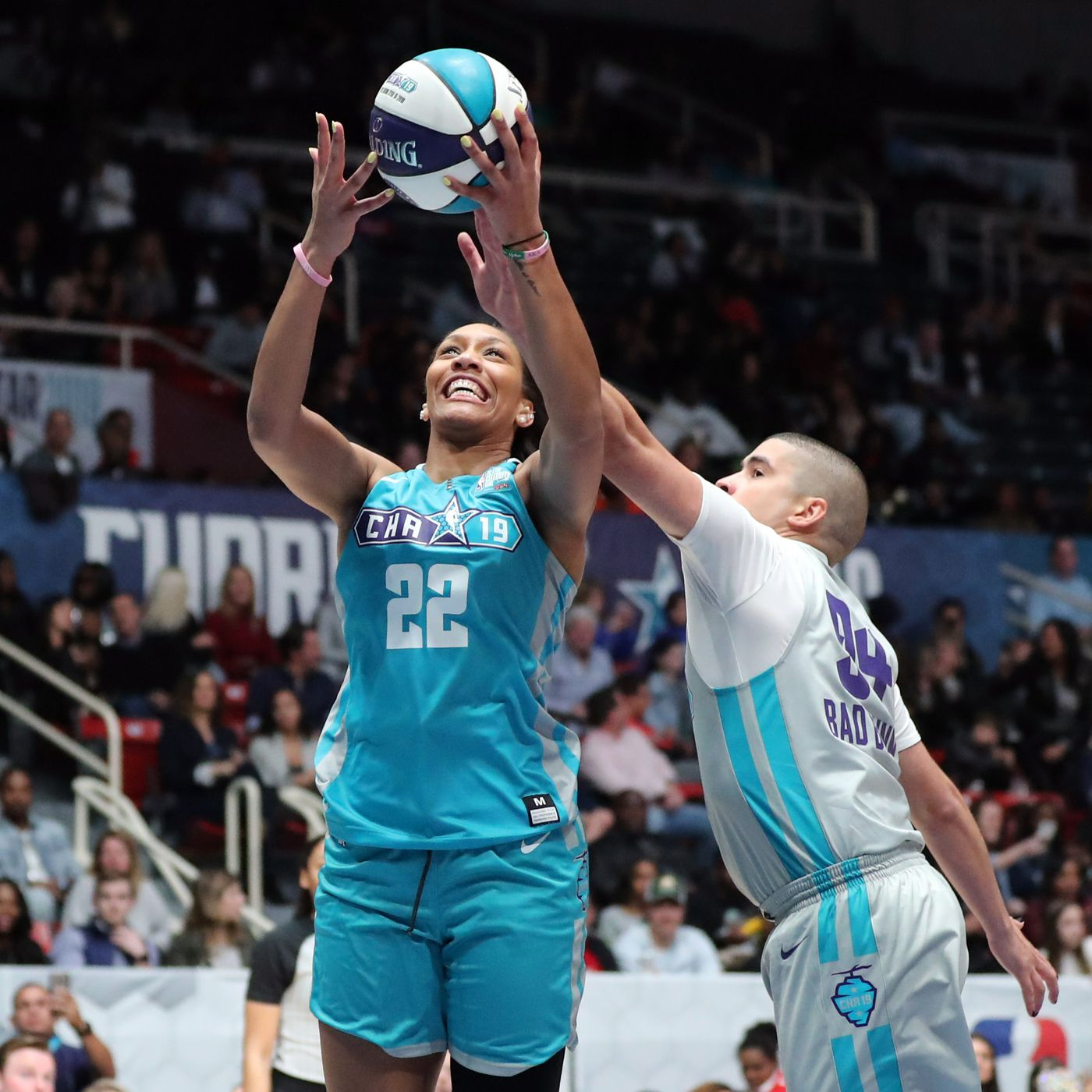 4bc2e89710b Captain Marvel x WNBA issue bold statement during halftime of the 2019 NBA  All-Star Game