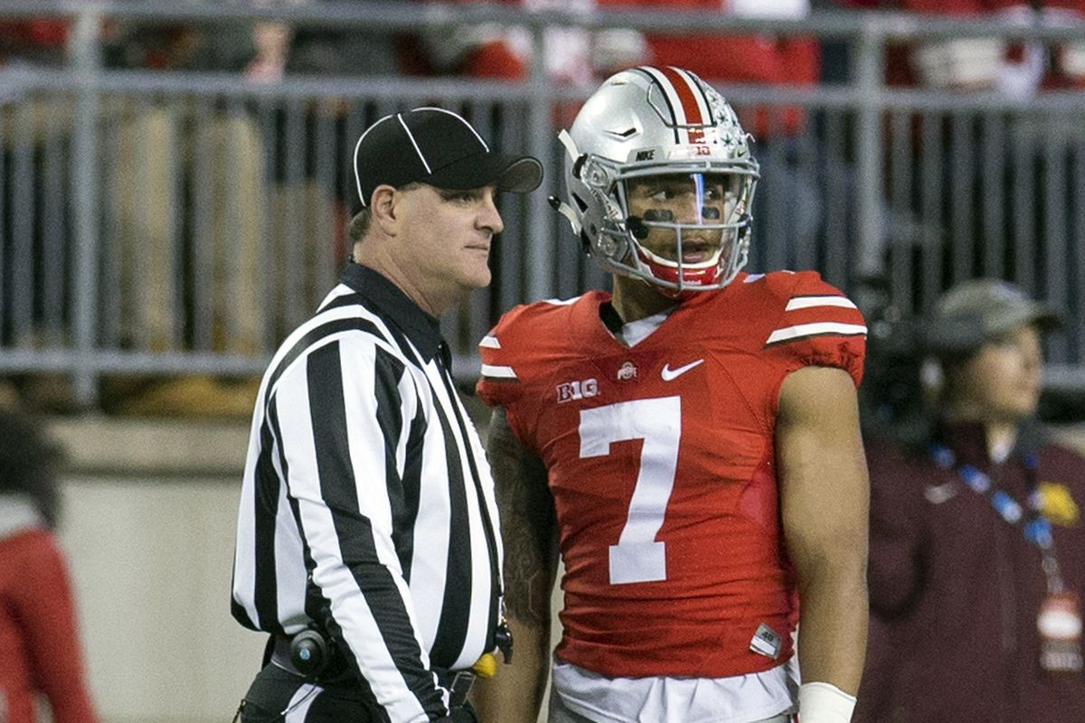 """""""I don't know if you're working our game against Illinois next week, but I'm going to score on a punt return against them."""" Jalin Marshall to this official last week, probably."""