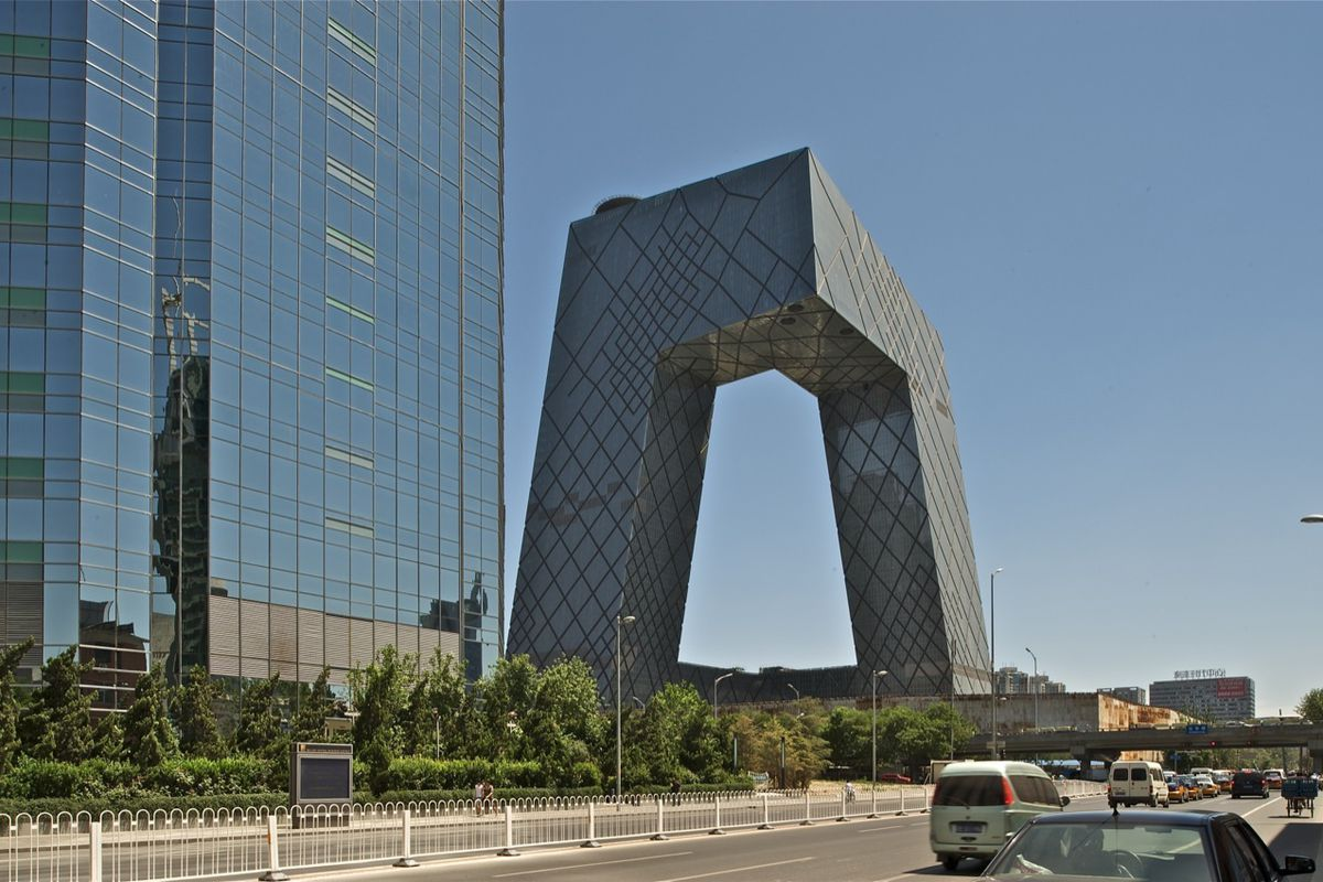 """Photos via <a href=""""http://www.archdaily.com/620101/a-rare-look-inside-oma-s-cctv-building-in-beijing/"""">ArchDaily</a>"""