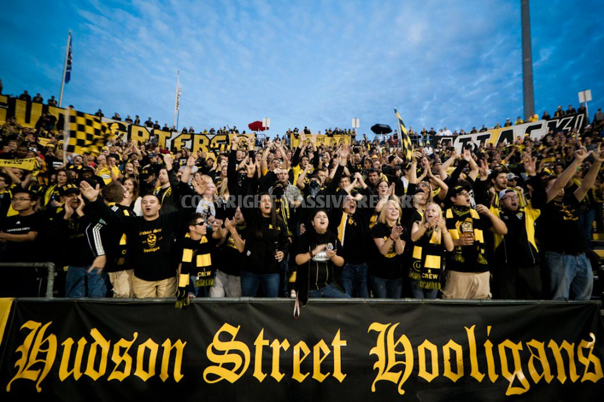 Members of the Nordecke cheer their beloved Black and Gold to victory