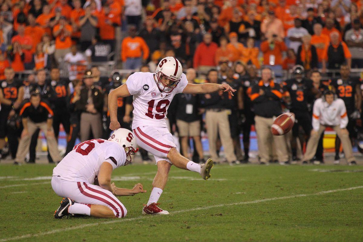 Jordan Williamson hooks the potential game-winning kick at the end of regulation wide left.