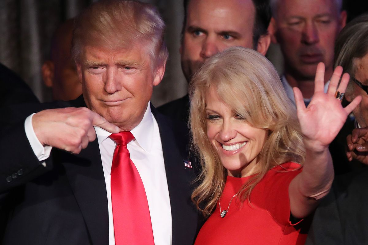 President Donald Trump and Kellyanne Conway.