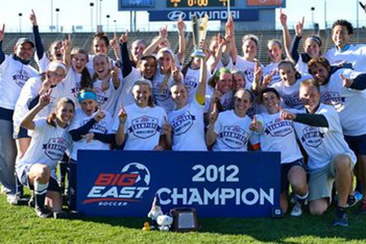Marquette tries to win their second consecutive Big East tournament title today at Valley Fields