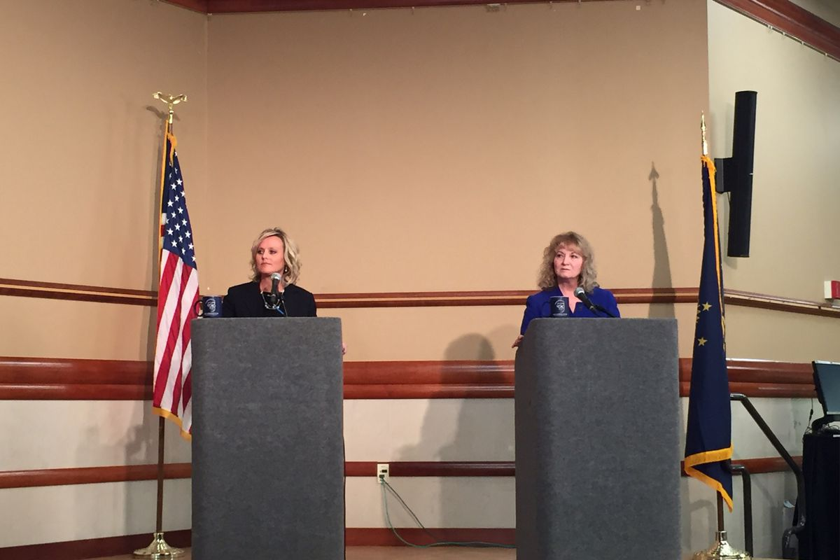 Glenda Ritz and Jennifer McCormick debated in Fort Wayne during the 2016 campaign this past fall.