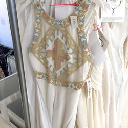 Beaded bridal gown, $600