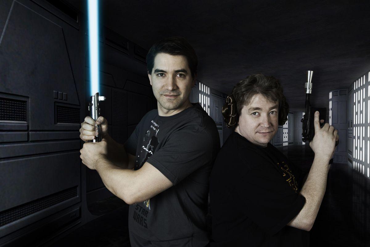 Princess Leia's Stolen Death Star Plans - Dan Amrich and Jude Kelley of Palette-Swap Ninja