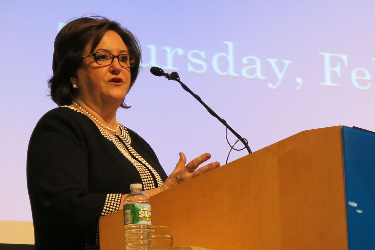 Elia lays out education policies at Teachers College
