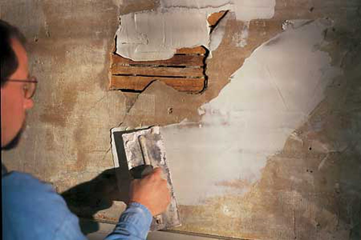 Patching Plaster This Old House