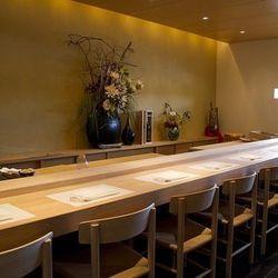 The sushi bar at Kabuto.