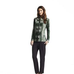 Button-down shirt, $48*; Pleated pants $54
