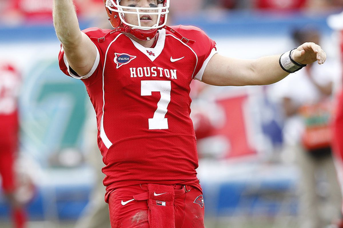 Despite the C-USA Championship Game loss at home to Southern Miss., Houston senior QB Case Keenum should be a Heisman Trophy Finalist.
